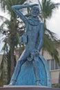 Jacques Cousetau Copper Statue...