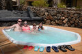 Jacuzzi for whole family Stock Photos