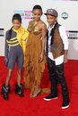 Jada pinkett smith jada pinkett smith jaden smith willow smith at the american music awards arrivals nokia theater los angeles ca Stock Image