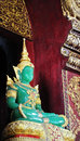 Jade buddha a green statue in a temple in thailand Royalty Free Stock Photography