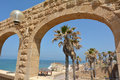 Jaffa beach in Tel Aviv Jaffa - Israel Royalty Free Stock Photo