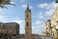Jaffa clock tower at the town israel the is one of seven towers built in israel during the ottoman Royalty Free Stock Images