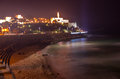 Jaffa dusk panorama israel a panoramic view of at from tel aviv Stock Image