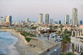 Jaffa israel isr nov the skyline of tel aviv from promenade on nov tel aviv is thesecond largest cityinisrael with a population of Royalty Free Stock Images