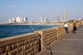 Jaffa israel isr oct the skyline of tel aviv from promenade on oct in april tel aviv and were united in the single Royalty Free Stock Photography