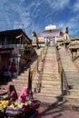 Jagdish Temple stairway entrance. Udaipur. Rajasthan. India