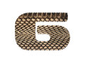 Jagged edge text number made of natural snake skin texture. Royalty Free Stock Photo