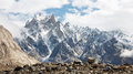 Jagged mountain scenery in the karakorum range pakistan Stock Image