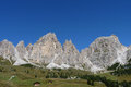 Jagged mountains in the alps dolomites northern italy Royalty Free Stock Photo