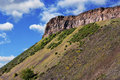 Jagged rocks at holyrood park in edinburgh scotland Royalty Free Stock Photography