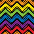 Jagged zigzag seamless pattern of zig zags in rainbow colors Royalty Free Stock Photography