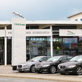 Jaguar dealership in germany copy space in the sky Royalty Free Stock Images