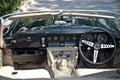 Jaguar E-Type Interior on Vintage Car Parade Stock Photo
