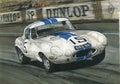 Jaguar e type lightweight xke illustration of a Royalty Free Stock Photos
