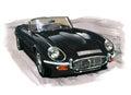 Jaguar E-Type (XKE) Series III Royalty Free Stock Photo