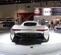 Jaguar sport car dubai uae november on display at the dubai motor show uae Royalty Free Stock Photography