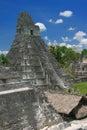 Jaguar temple, Tikal Royalty Free Stock Photo