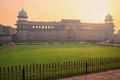 Jahangiri Mahal in Agra Fort at sunrise, Uttar Pradesh, India Royalty Free Stock Photo