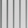 Jail Bars Vector Illustration. Isolated On Transparent Background. 3D Iron Or Steel Prison House Grid Illustration Royalty Free Stock Photo