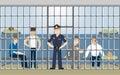 Jail in police.
