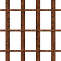 Jail window with rusty bars Royalty Free Stock Photography