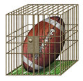 Jailed Football Stock Photo