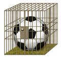 Jailed Soccer Ball Royalty Free Stock Image