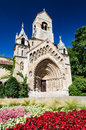 Jak chapel in budapest is an imitation of romanesque abbey of transdanubian village of Stock Photo