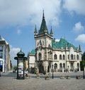 Jakab palace with green turrets in kosice slovak jakabov palac city slovakia Stock Photography