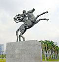 Jakarta may statue of prince diponegoro riding a horse made by italian artist prof coberlato may in indonesia Stock Photos