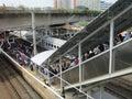 Jakarta train passengers.