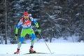 Jakov fak world cup in biatlhlon men km pursuit race within biathlon held on nove mesto na morave on Royalty Free Stock Photo