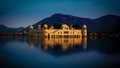 Jal mahal palace man sagar lake jaipur india meaning water is a located in the middle of the in city the capital of the state of Royalty Free Stock Photos