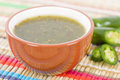 Jalapeno relish bowl of sauce Royalty Free Stock Images