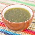 Jalapeno relish bowl of sauce Royalty Free Stock Photography
