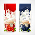 Jam banners vertical Royalty Free Stock Photo