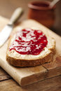Jam on bread Stock Photography