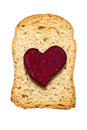 Jam heart Royalty Free Stock Photography