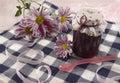 Jam Jar With Flowers