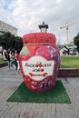 Jam jar moscow august moscow summer festival on the theater square in moscow the festival includes sales of sweets confiture Royalty Free Stock Image
