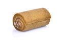 Jam roll mini isolated on white Royalty Free Stock Photo
