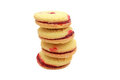 Jam shortbread biscuits Royalty Free Stock Photo