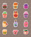 Jam stickers Stock Photography