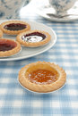 Jam tarts apricot tart and other Royalty Free Stock Photo