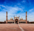 Jama masjid largest muslim mosque in india delhi Stock Photo