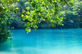 Jamaica. A Blue lagoon. Stock Photos