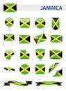 Jamaica Flag Vector Set