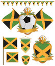 Jamaica flags Royalty Free Stock Images