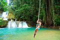 Jamaica rope jumping Royalty Free Stock Photo