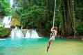 Jamaica rope jumping Royalty Free Stock Photo